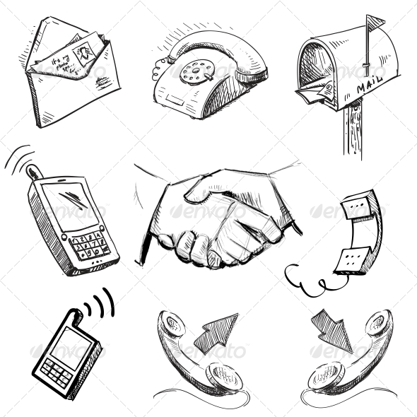 GraphicRiver Communication Icons Collection 5493861