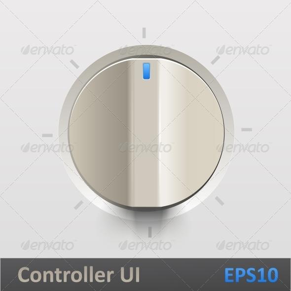 GraphicRiver Control Knob Regulator Vector Illustration 5493878