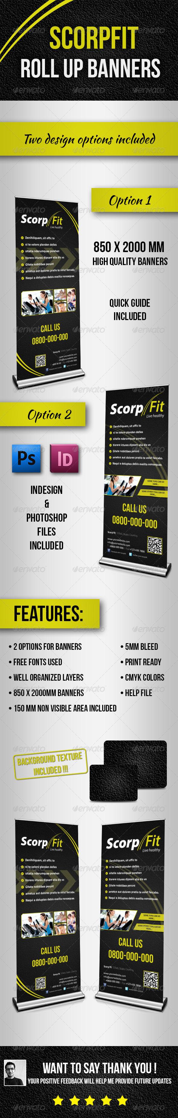 GraphicRiver Scorpfit Rollup Banners 4520142
