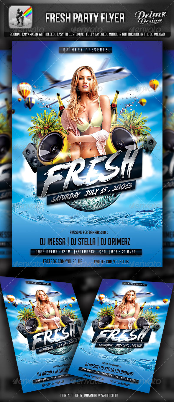 GraphicRiver Fresh Party Flyer 5494158