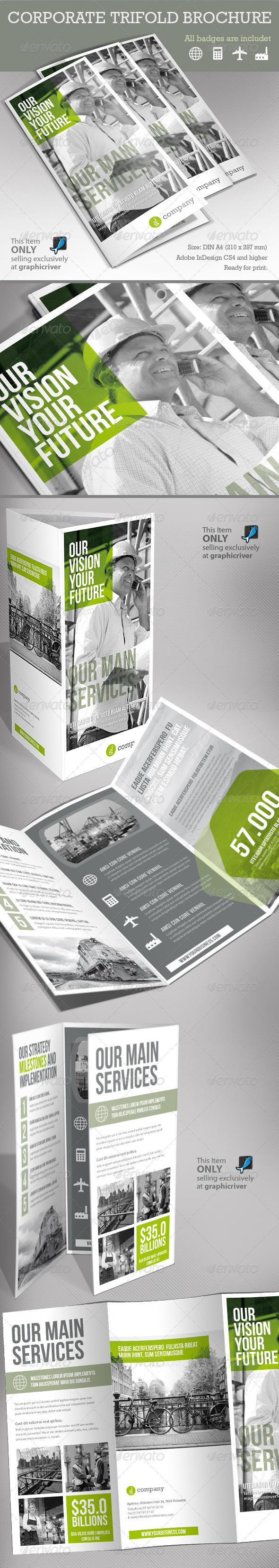 GraphicRiver Corporate Tri-fold Brochure 5494191