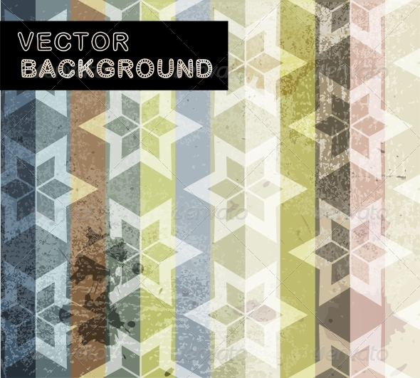 GraphicRiver Abstract Background with Geometric Flower Pattern 5494195