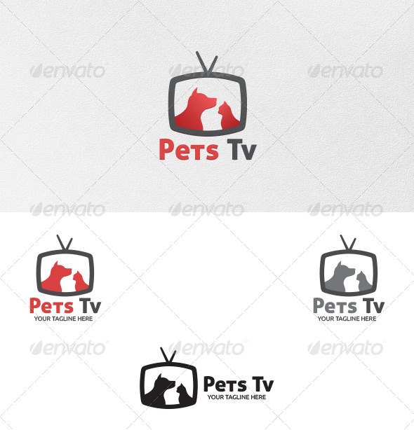 GraphicRiver Pets TV Logo Template 5485650