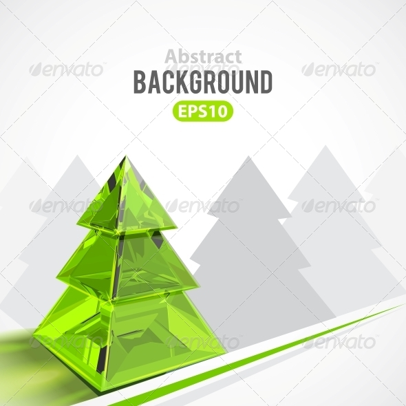 GraphicRiver Abstract Background with Christmas Tree 5494277