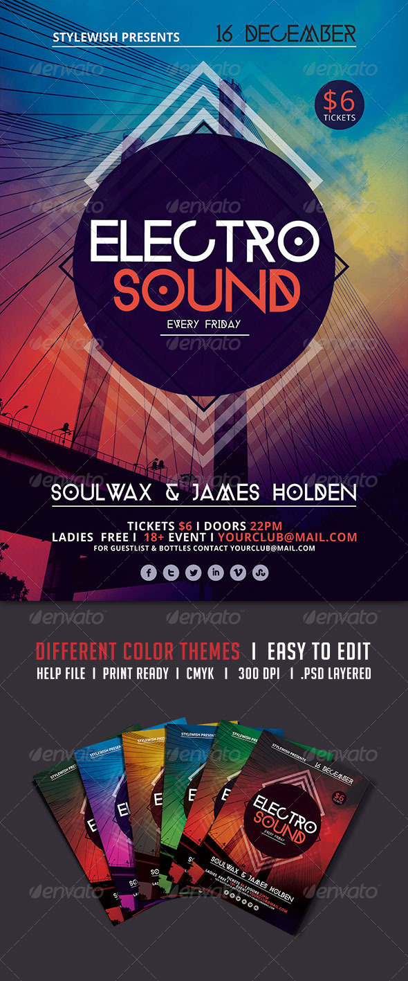 GraphicRiver Electro Sound Flyer 5466005