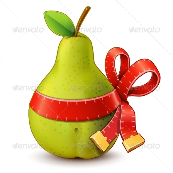 GraphicRiver Pear with Measuring Tape with Bow 5494295