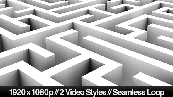 Endless Loop of a Maze or Labyrinth 2 Styles