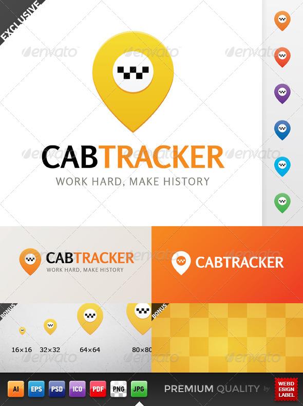 GraphicRiver Cab Tracker Logo 5494332