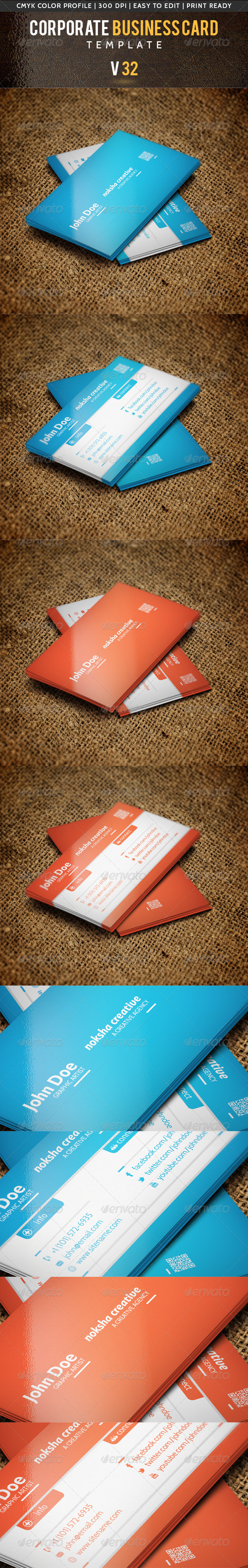 GraphicRiver Corporate Business Card V 32 5494335
