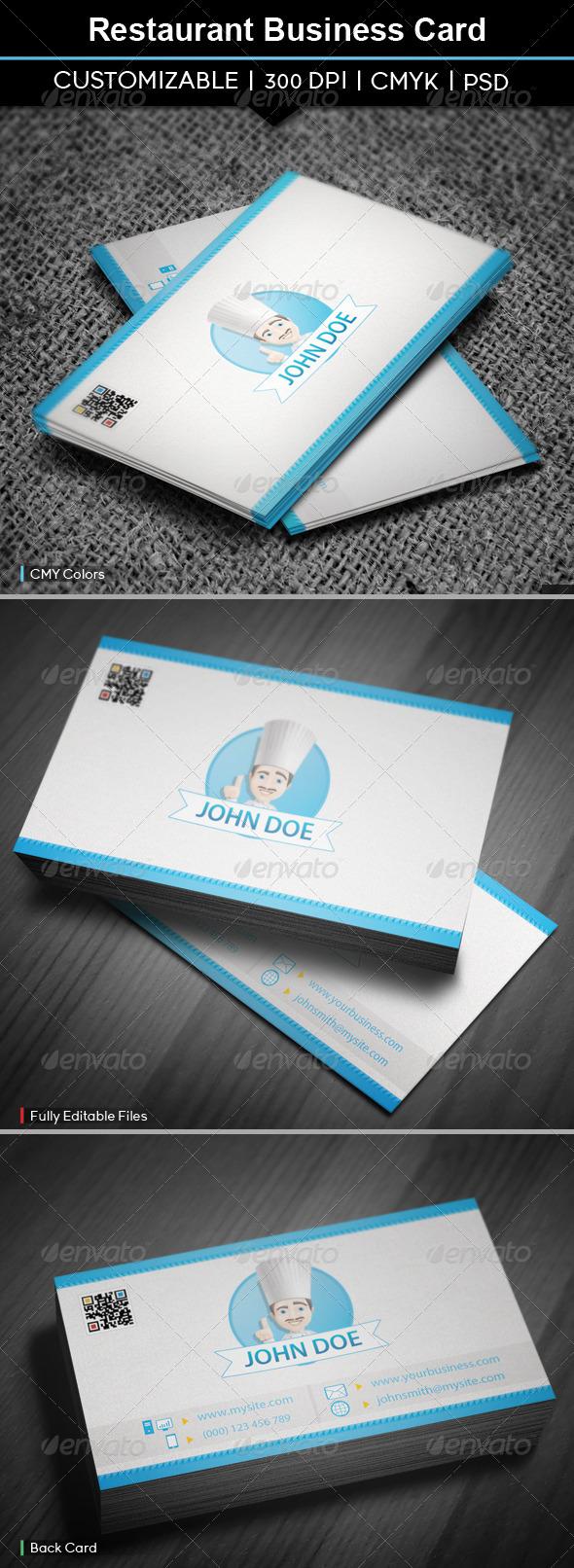 GraphicRiver Restaurant Business Card 5495435