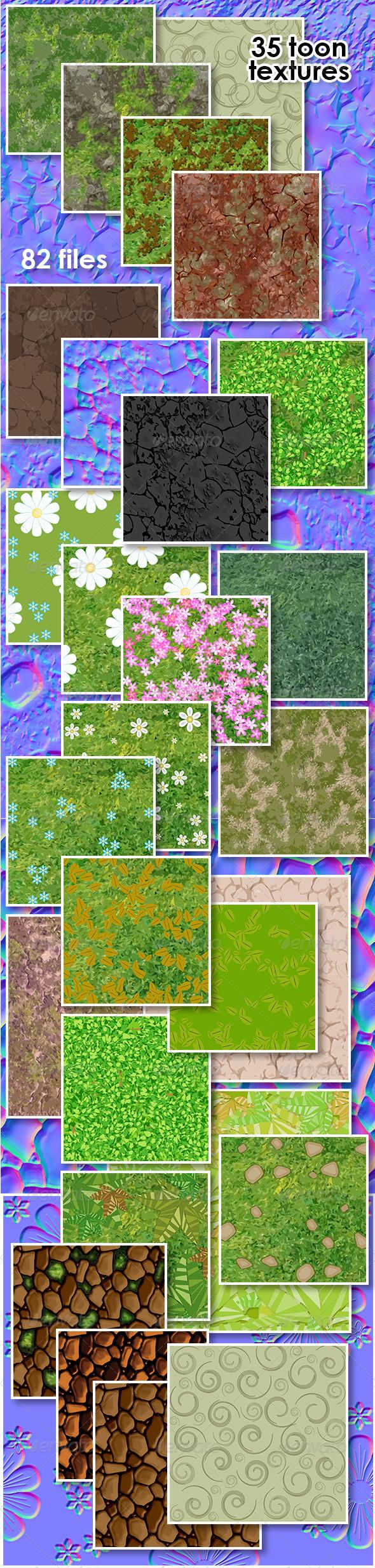 3DOcean Toon Texture Set 5495527