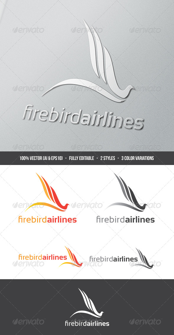 GraphicRiver Firebird Airlines Logo 5495631