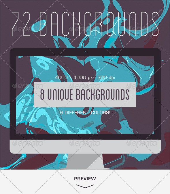 GraphicRiver 72 Abstract Ink Backgrounds 5495673