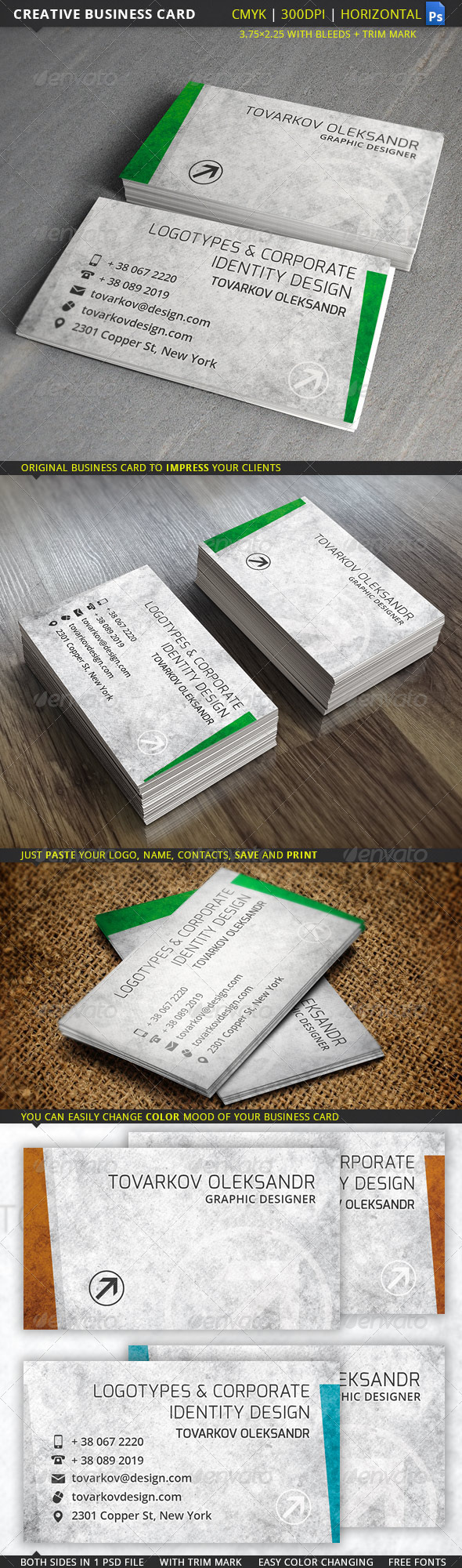 GraphicRiver Creative Business Card 5476036
