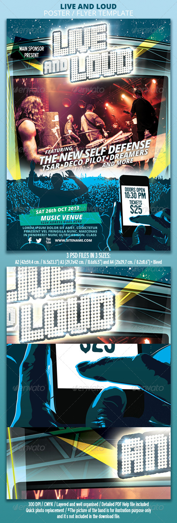 GraphicRiver Live and Loud Poster Flyer Template 5495762