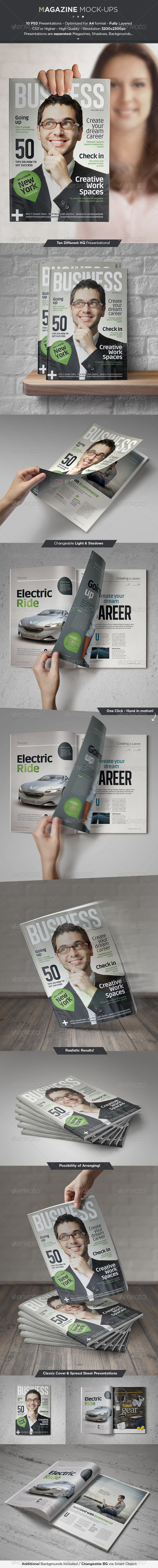 GraphicRiver Magazine Mock-Up Set 5495819