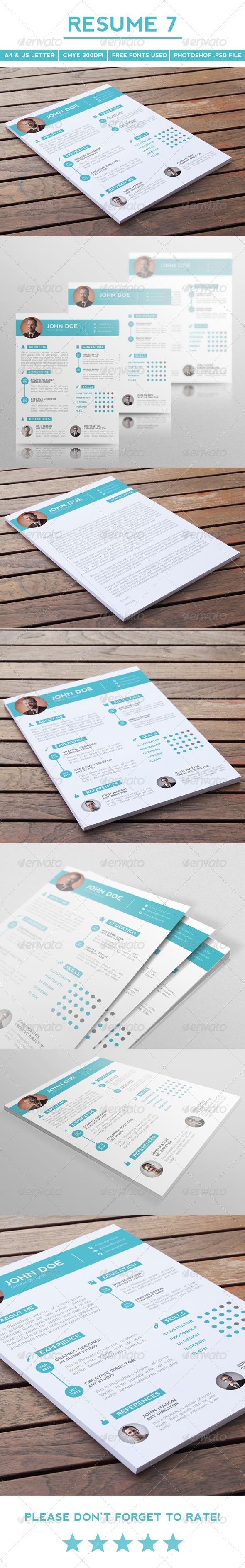 GraphicRiver Resume 7 5495921