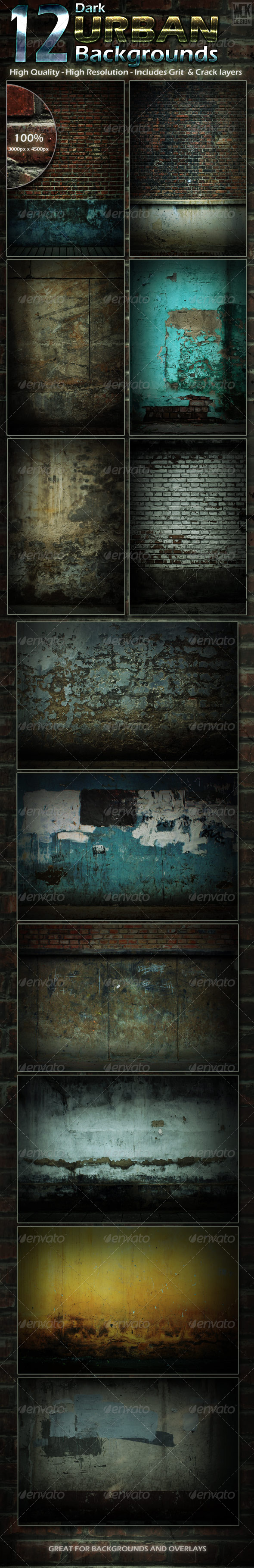 GraphicRiver 12 Dark Urban Backgrounds 5330934