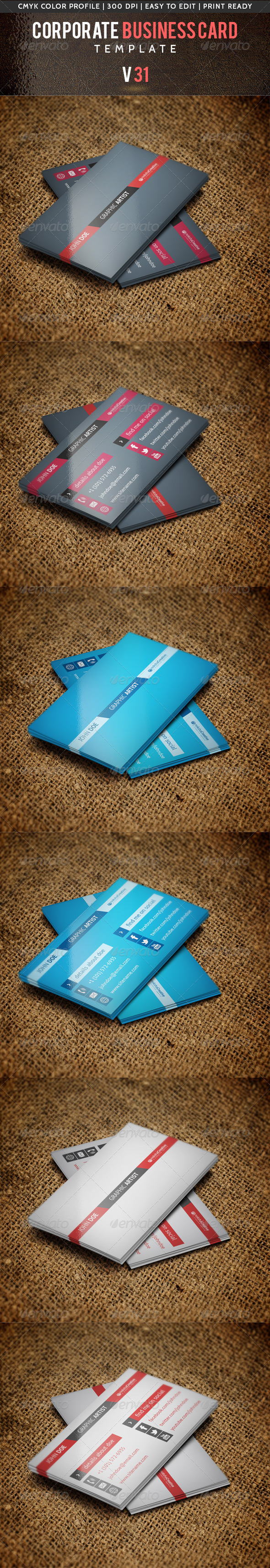 Corporate Business Card V 31