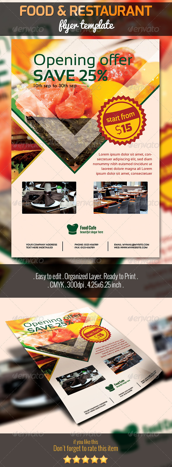 GraphicRiver Food and Restaurant Flyer 5451211