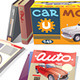 Magazines, Books and the Car Model - GraphicRiver Item for Sale