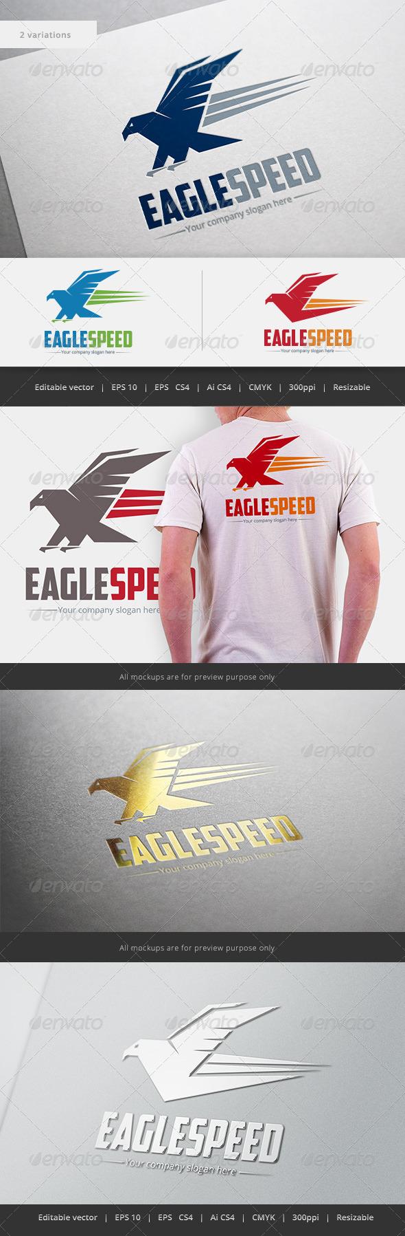 GraphicRiver Eagle Speed Logo 5496399