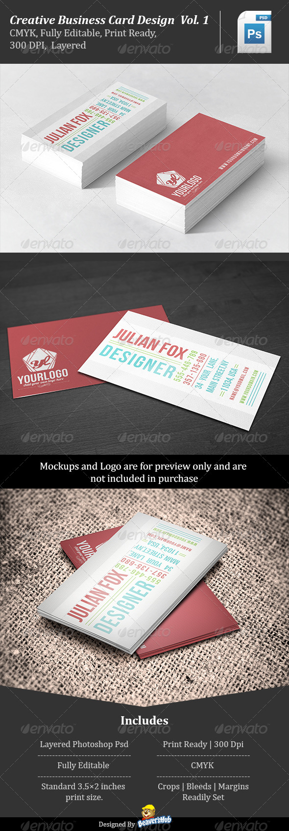 GraphicRiver Creative Business Card Design Vol.1 5496643