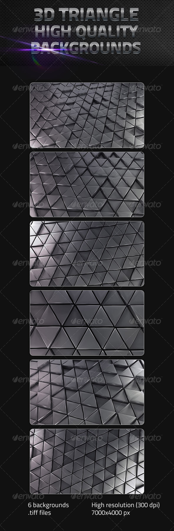 GraphicRiver 3D Triangle Backgrounds 5496931