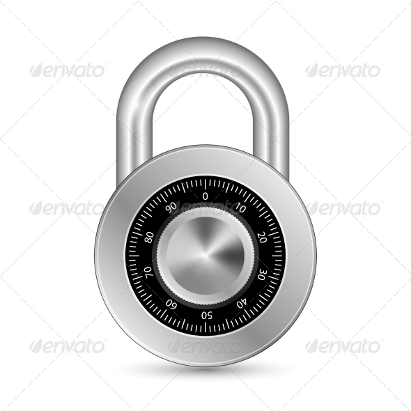 GraphicRiver Closed Padlock 5497299