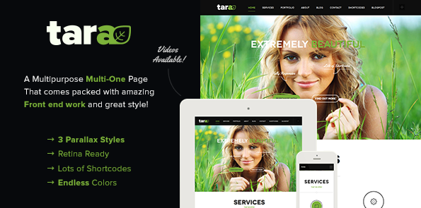 Tara Multi-Purpose Multi-Page One-Page Parallax