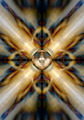 Music speaker on a gold kaleidoscope background - PhotoDune Item for Sale