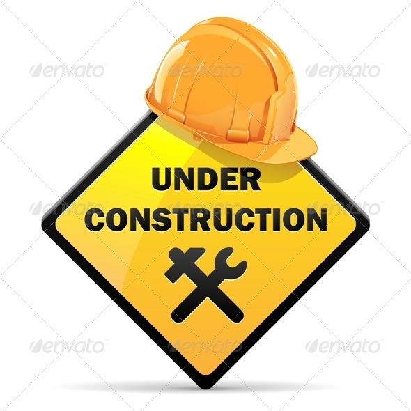 GraphicRiver Vector Under Construction Sign with Helmet 5497560