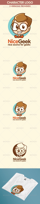 Geek Logo Nice Geek or Nerd Logo