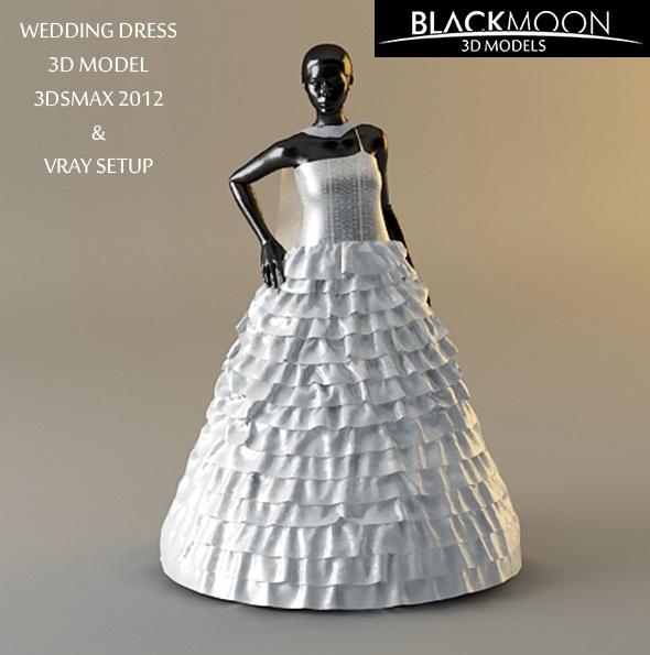 Wedding Dress - 3DOcean Item for Sale