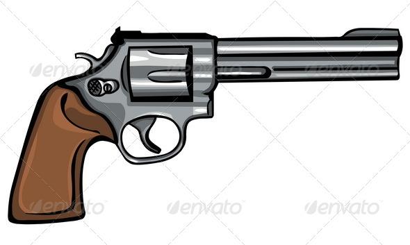 GraphicRiver Vector Cartoon Revolver 5498041