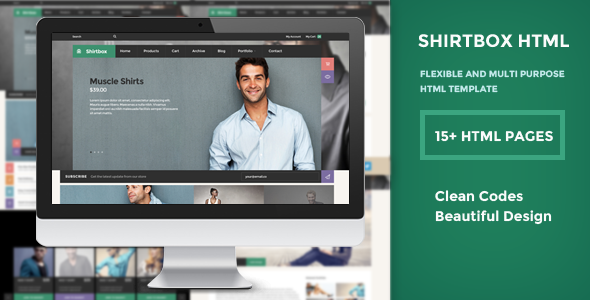 ShirtBox - Flat Design & Multipupose Template