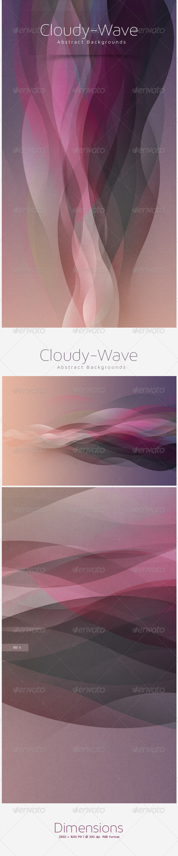 GraphicRiver Cloudy-wave Abstract Background 5498180