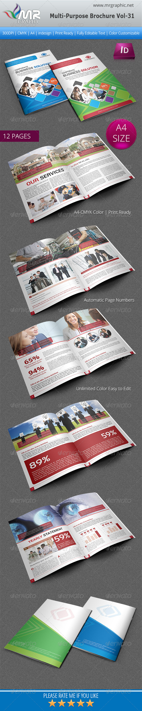 GraphicRiver Multipurpose Business Brochure Template Vol-31 5485114