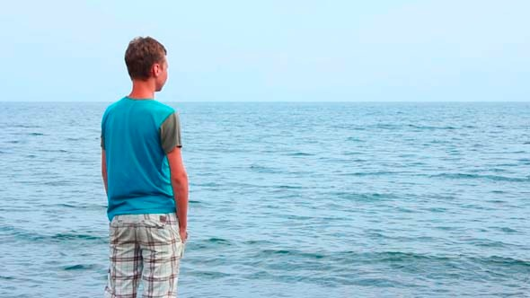 VideoHive Boy Watching at Sea 5499385