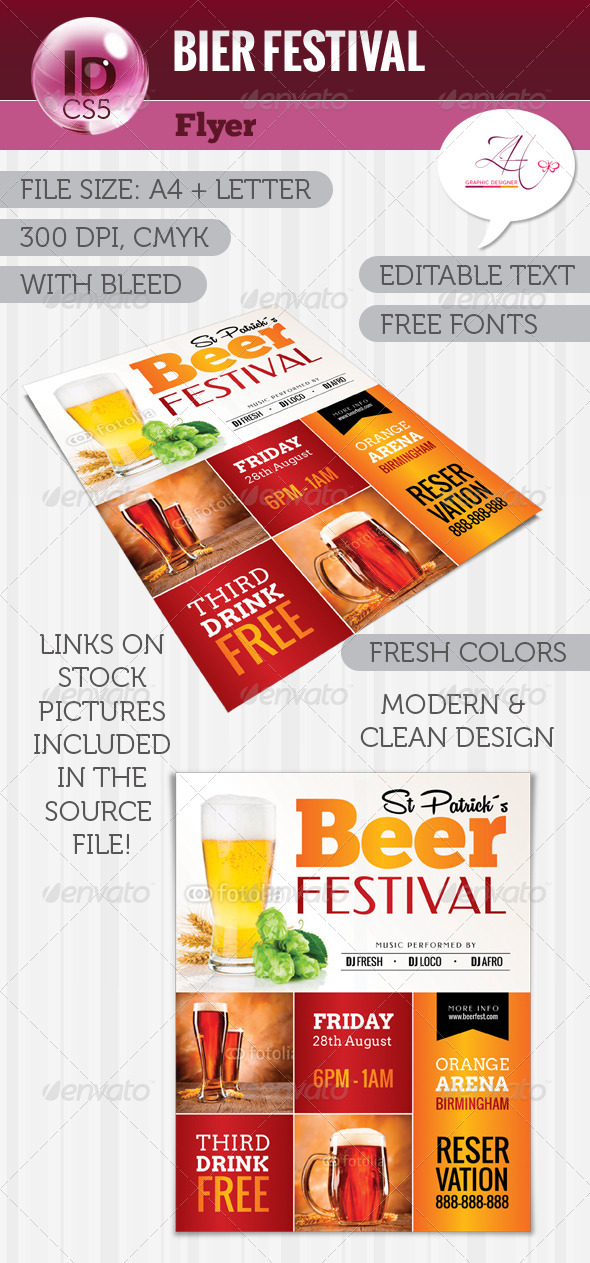 GraphicRiver Beer Fest Flyer 5499479