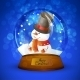 Christmas Snow Globe with Snowman - GraphicRiver Item for Sale