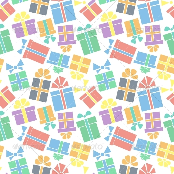 GraphicRiver Gift Box Seamless Pattern 5500090