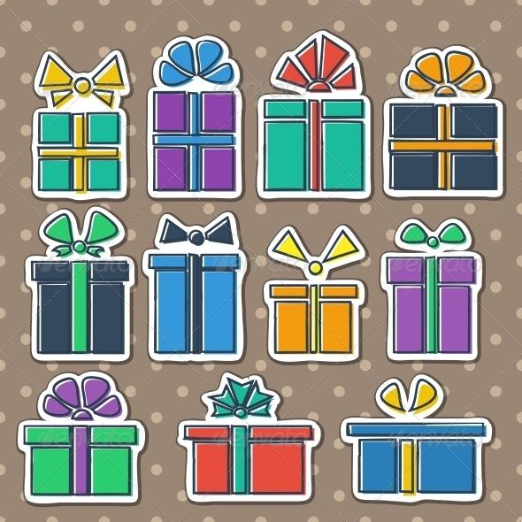 GraphicRiver Gift Box Set 5500098