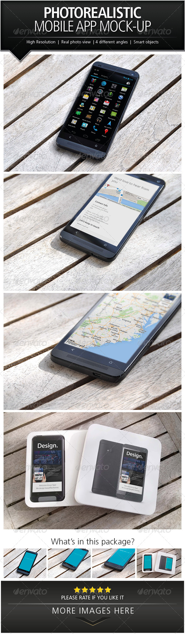 GraphicRiver Photorealistic Mobile App Mock-Up 5500099