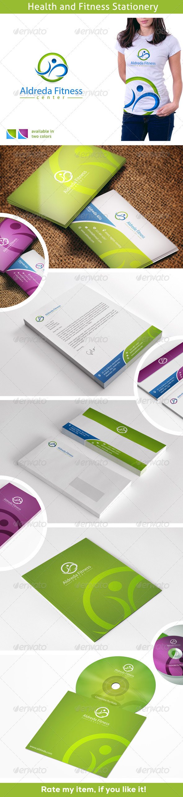 Healthy Fitness - Stationery Print Templates