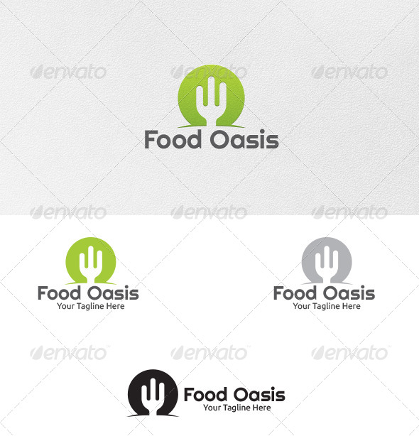 GraphicRiver Food Oasis Logo Template 5500701
