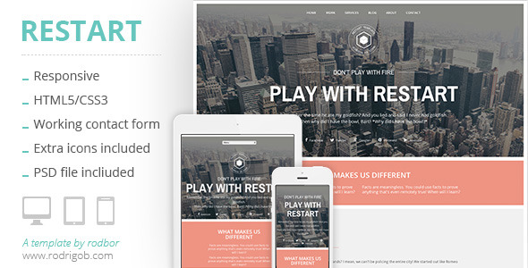 Restart - HTML Portfolio template