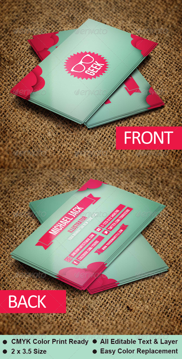 GraphicRiver Geek Business Card Template 5458520