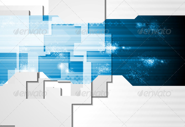 GraphicRiver Corporate Technology Card Design 5500984