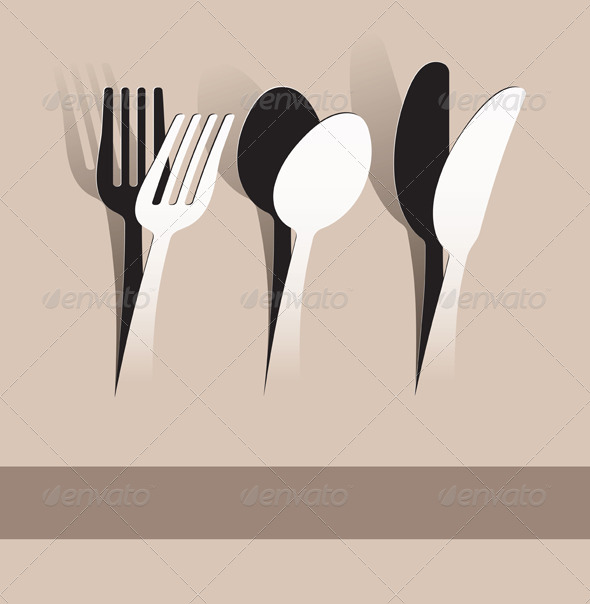 GraphicRiver Paper Cut Silverware 5501047